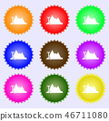 Mirage icon sign. Big set of colorful, diverse, hi 46711080