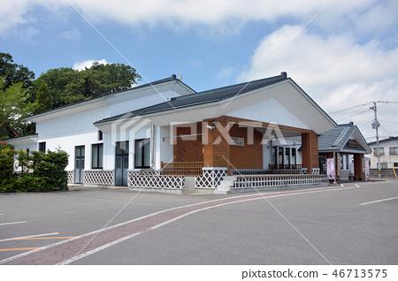 From the parking lot of Tohoku, Aomori, Okutsugaru, Tsugaru shamisen hall Shiroyokan (Taiji Osamu Memorial Hall) (1) 46713575