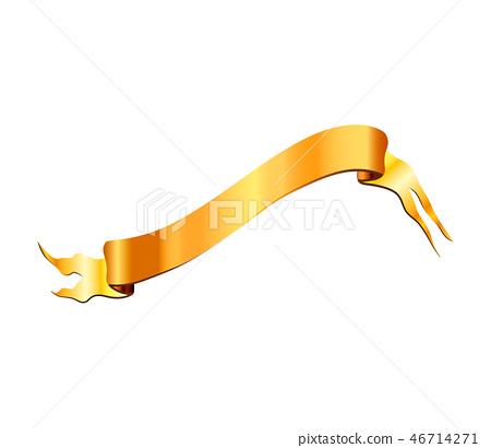 Wavy golden elegant tape on white 46714271