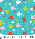 fish, pattern, sea 46716497