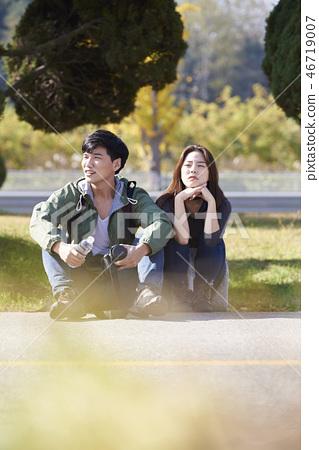 커플,캠핑,한국인 46719007