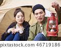 커플,캠핑,한국인 46719186