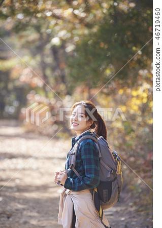 캠핑,젊은여자,한국인 46719460