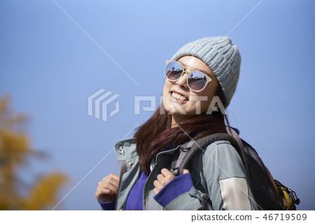 캠핑,젊은여자,한국인 46719509