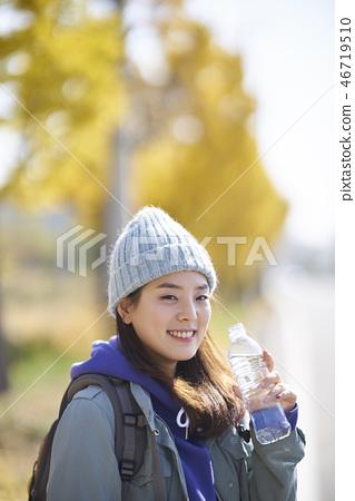 Camping, Young Women, Korean 46719510