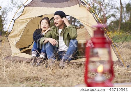 Couple, Camping, Korean 46719548