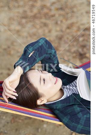 Camping, Young Women, Korean 46719549