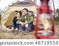 情侶,露營,韓國 46719550