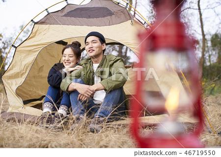 Couple, Camping, Korean 46719550
