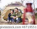 情侶,露營,韓國 46719551