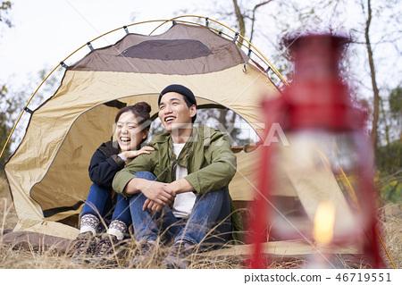 Couple, Camping, Korean 46719551