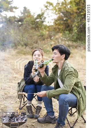 Couple, Camping, Korean 46719555