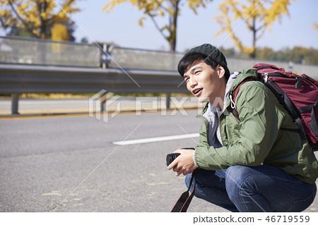 Camping, Young Men, Korean 46719559