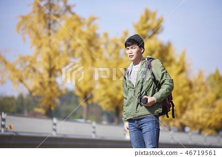 Camping, Young Men, Korean 46719561