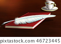 Feather pen and book 46723445