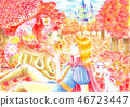 Autumn leaves and princes and love bears 46723447
