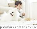 유아, 어린이, 강아지 46725137