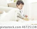 유아, 어린이, 강아지 46725138