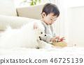 유아, 어린이, 강아지 46725139