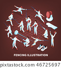 Sword Play Sports Background 46725697