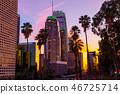 Downtown, Los Angeles, buildings, evening scene 46725714