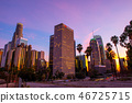 Downtown, Los Angeles, buildings, evening scene 46725715