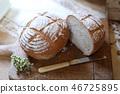 통밀 손수 만든 빵 46725895