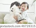 유아,베이비,아기,어린이,가족,포메라니안,강아지,애완동물,반려동물,반려견,집 46726315