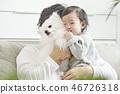 아기, 강아지, 개 46726318