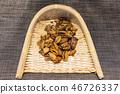 Dried seaweed, dry seaweed, dried seafood, mussels, seaweed, dried food, dried seaweed, dried mussels, 46726337