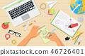 desk, work, vector 46726401
