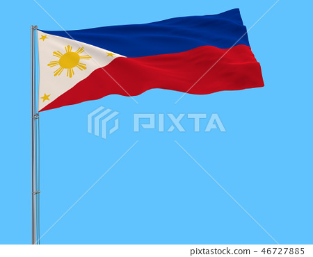 Flag of Philippines in peacetime on the flagpole 46727885