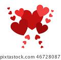decorative heart color 46728087