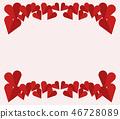 decorative heart background 46728089