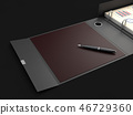 Ring binder folder with pen 46729360
