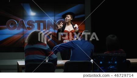 Young woman at actors casting 46729714