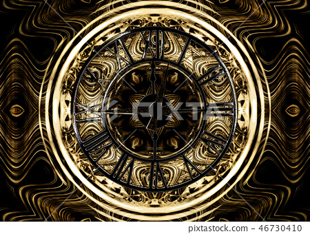The luxury design of watch with old clock 46730410