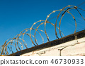 Togetoge fence which winds a tou 46730933