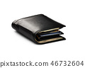 Close-up view of black leather men's wallet 46732604