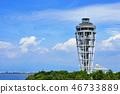 Enoshima observation lighthouse sea candle and blue sky 46733889