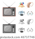 hearing glasses vector 46737746