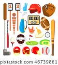 baseball vector icon 46739861