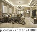 室内装饰 客厅 奢侈 46741089