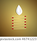Lit Candle Made from Safety Matches 46741223