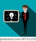 blackboard,bulb,man 46741239