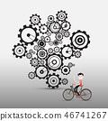 bicycle gear vector 46741267