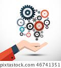 technology gear wheel 46741351