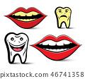矢量 矢量图 牙齿 46741358