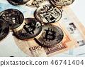 Crypto currency Bitcoin 46741404