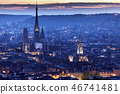 Panorama of Rouen at sunset 46741481